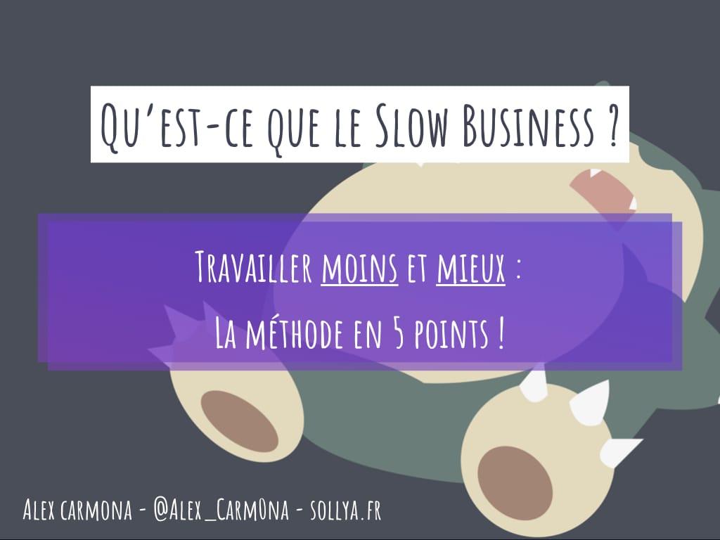 entrepreneuriat alternatif slow business